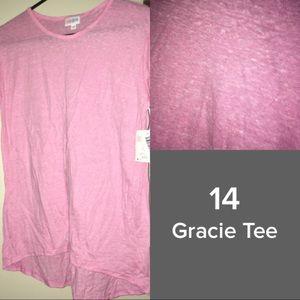 Solid Pink LuLaRoe Gracie Tee - BNWT